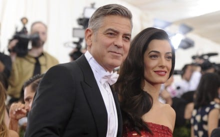 George Clooney with his wife, Amal Clooney – a co-host at next year's The Metropolitan Museum of Art's Costume Institute benefit gala – arrive at the museum's 2015 gala. Photo: AP