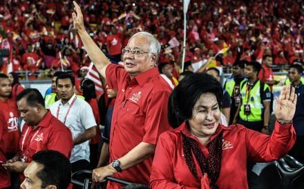 Malaysia's Prime Minister Najib Razak and his wife Rosmah Mansor. Photo: AFP