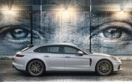 A Porsche Panamera 4 E-Hybrid Sports Turismo car, which can run for about 50km on battery-only mode. Photo: Porsche