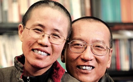 Liu Xiaobo and his wife Liu Xia in October 2010. Photo: Reuters