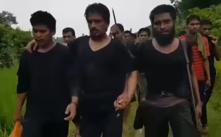 Rohingya Muslim militants in Myanmar's Rakhine state. Photo: YouTube