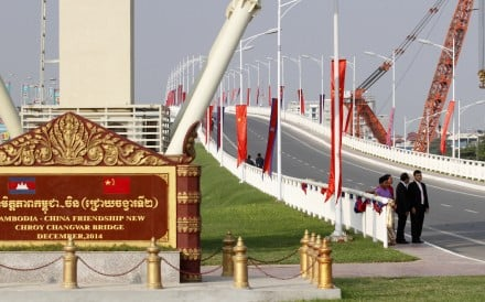 The Cambodia-China Friendship Bridge in Phnom Penh opened in 2015. Beijing has invested billions of dollars in the southeast Asian country in recent years. Photo: Xinhua