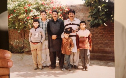 Shakeel Afridi, third left, was recruited by the CIA to help find Osama bin Laden. Photo: AFP