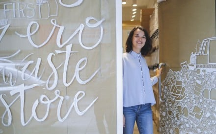 Live Zero founder Tamsin Thornburrow at her new zero-waste shop on High Street in Sai Ying Pun. Photo: Winson Wong