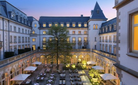 Twilight sets on Villa Kennedy in Frankfurt. Photo: Rocco Forte Hotels
