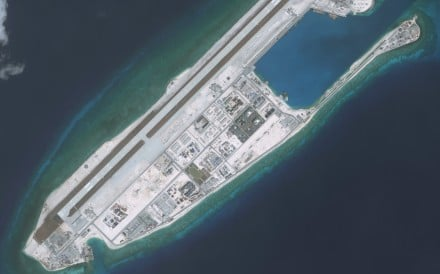 China has expanded facilities on Fiery Cross Reef in the South China Sea. Photo: Getty Images