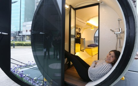 Architect had brainwave on a building site; the result is the OPod, a 100 square foot, US$15,000 home formed from two lengths of concrete drainpipe and envisioned as temporary accommodation for a family. The Post is first to give it a try