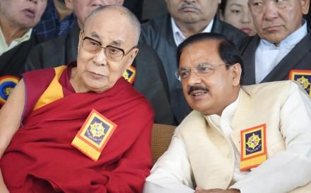 Obama triggers beijings wrath after tribute to dalai lama south tibetan spiritual leader the dalai lama left sits beside mahesh sharma indias culture publicscrutiny Image collections