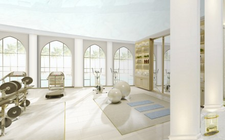 The spaces are multifunctional allowing a range of exercising and pool fitness activities