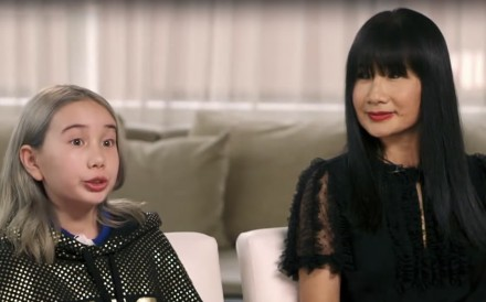 In first interviews since videos of her bragging about selling drugs and posing in luxury cars went viral, the now LA-based nine-year-old denies her mother 'wants to make money off me' while mum Angela Tian says daughter is 'a great kid, well behaved'