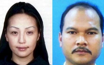 Mongolian model Altantuya Shaariibu (left) and Sirul Azhar Umar. Photos: Interpol, EPA