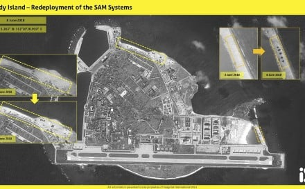 Satellite images form Israeli intelligence firm ImageSat International indicate that China has redeployed missiles on Woody Island, known in China as Yongxing Island. Photo: ISI