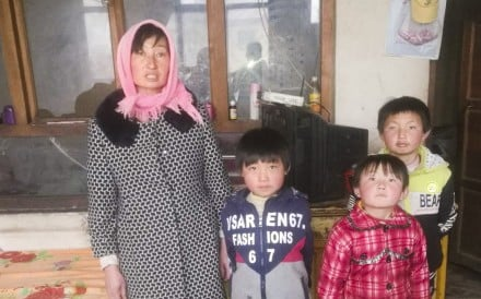 Widowed at the age of 36, Liu Zhuanqin from China's impoverished Ningxia region is trying to raise five daughters (three of them pictured) on just 80 yuan (US$12) a day. Photo: Handout