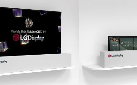 LG's answer to concealing a dominant screen is a rollaway TV.