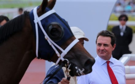 Michael Freedman looks over Fiama after his win at Sha Tin on Sunday. Photos: Kenneth Chan