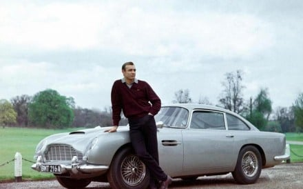 The Aston Martin DB5 starred with Sean Connery in the 1964 James Bond movie 'Goldfinger'. Photo: Luxurylaunches