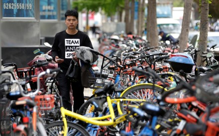 About 72 per cent of bike-sharing users in China can be found in the country's second- and lower-tier cities