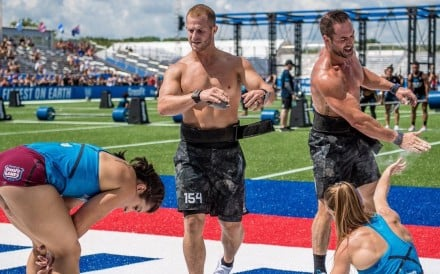 Team CrossFit Mayhem sit atop the leader board. Photos: Twitter/@CrossFitGames