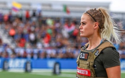 Sara Sigmundsdottir competes during the 2018 CrossFit Games. Photos: Twitter/@CrossFitGames