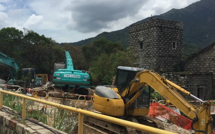 Drainage works around Yuen's Mansion are expected to end later this year, but there could be more to come. Photo: Yuen family