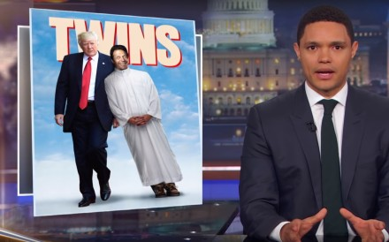Trevor Noah compares Donald Trump to Imran Khan on The Daily Show. Photo: YouTube/The Daily Show