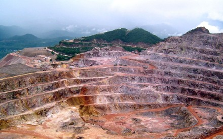 A mine in China owned by Zijin. The company is offering US$1.39 billion for Vancouver-based Nevsun Resources. Photo: AP