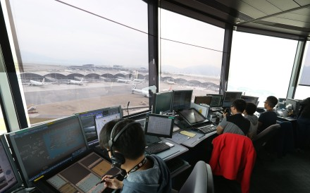 Air traffic controllers at Hong Kong International Airport in Chek Lap Kok. Photo: Dickson Lee