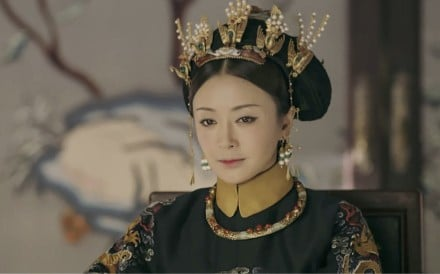 Qin Lan as Empress Fucha in The Story of Yanxi Palace.