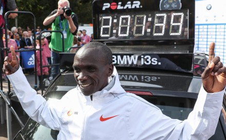 Records fell at the Berlin Marathon when the Kenyan runner completed the course in 2:39 and his female counterpart won the women's race