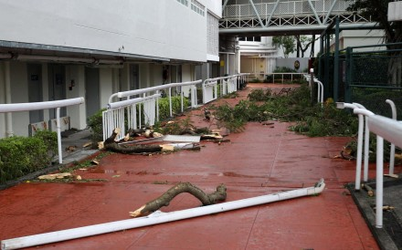 Sha Tin Racecourse after Typhoon Mangkhut. Photos: Kenneth Chan