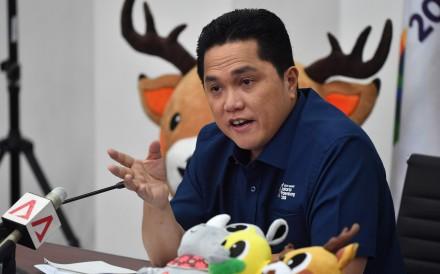 Erick Thohir Head Of The Indonesian Asian Games  Organising Committee Inasgoc