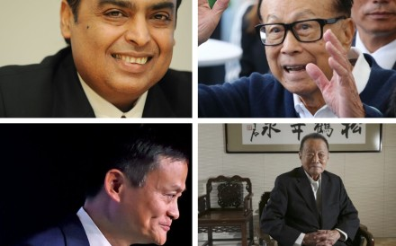 (Clockwise from top left) Mukesh Ambani, Li Ka-shing, Robert Kuok and Jack Ma are four of Asia's billionaires featured in the Bloomberg Billionaires Index, who have helped propel the region's business success.