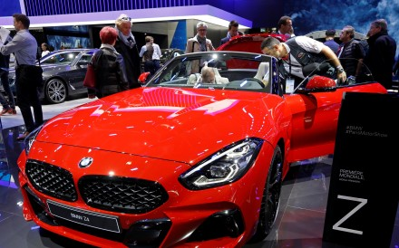 The BMW Z4 on display at the Paris auto show last week. Photo: Reuters