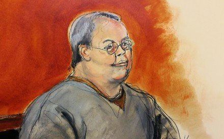 A courtroom sketch of former Hong Kong home affairs secretary Patrick Ho Chi-ping, who has plead not guilty to corruption charges in the US. Credit: AP
