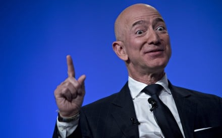 """This is a great country and it does need to be defended,"" Amazon.com CEO Jeff Bezos said at an event in San Francisco"