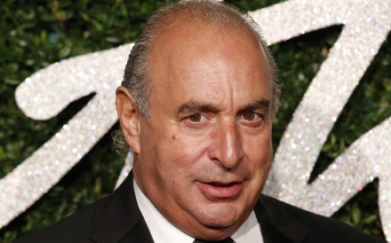 Businessman Philip Green poses for pictures at the 2014 British Fashion Awards in London. Photo: Agence France-Presse