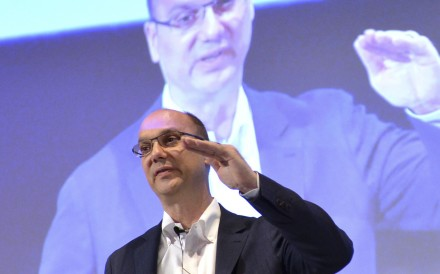 Andy Rubin, Google senior vice-president for mobile, speaks at a conference in Tokyo in 2013. Photo: Agence France-Presse