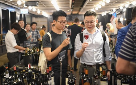 Wine lovers at the 2018 Cathay Pacific Hong Kong International Wine and Spirit Competition (HKIWSC). Photo: Meiburg Wine Media