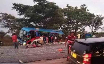 Dozens of people were killed in a Zimbabwe bus crash on Wednesday evening. Photo: Twitter