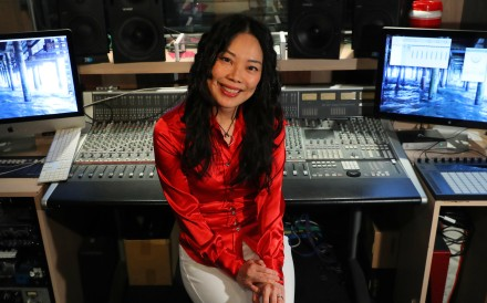 Composer Shirley Choi working on her educational app Migalolo for kids. Photo: Edmond So