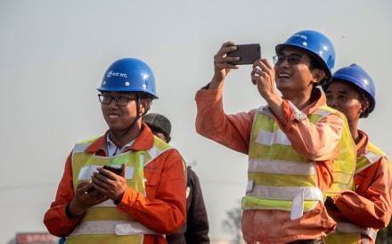 Thousands of Chinese workers are currently building infrastructure in Africa. Photo: AFP