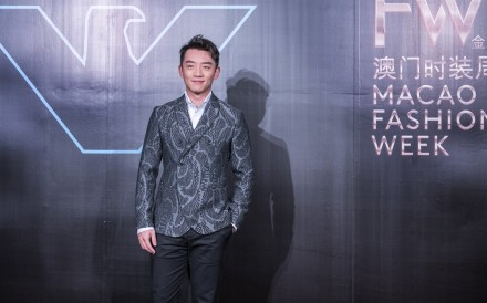Zheng Kai was in the front row of the Emporio Armani show.
