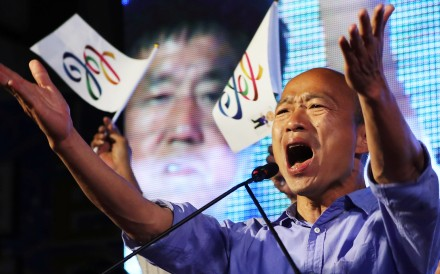 The fall of Kaohsiung to the KMT mayoral candidate Han Kuo-yu was especially bitter for the ruling DPP. Photo: Reuters/Tyrone Siu