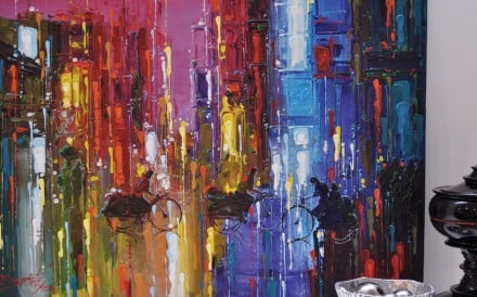 An artwork from Art House Asia titled 'Abstract Painting' by Nikolai Gritsunchuk of Russia