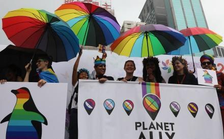 Participants in the Hong Kong Pride Parade, at Victoria Park on November 17. Photo: Edward Wong