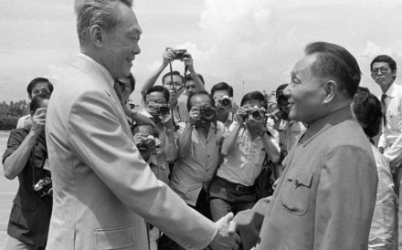 Singapore's Lee Kuan Yew meets Deng Xiaoping in 1978. Photo: Xinhua