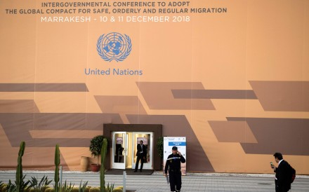The site of the UN Migration Conference in the Moroccan capital Marrakesh. Photo: AFP