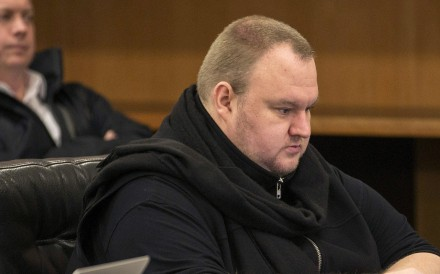 Kim Dotcom in court in New Zealand in 2015. Photo: Reuters