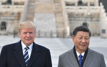 US President Donald Trump and Chinese President Xi Jinping pose for a photo at the Forbidden City in Beijing on November 8, 2017, during Trump's visit to China. The world is bearing the brunt of the toxic fallout from Trump's tenacious assaults on China's policies and Xi's determination not to let the West thwart his country's rise. Photo: AFP
