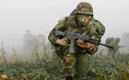 A South Korean Marine during an annual military exercise. Photo: AP